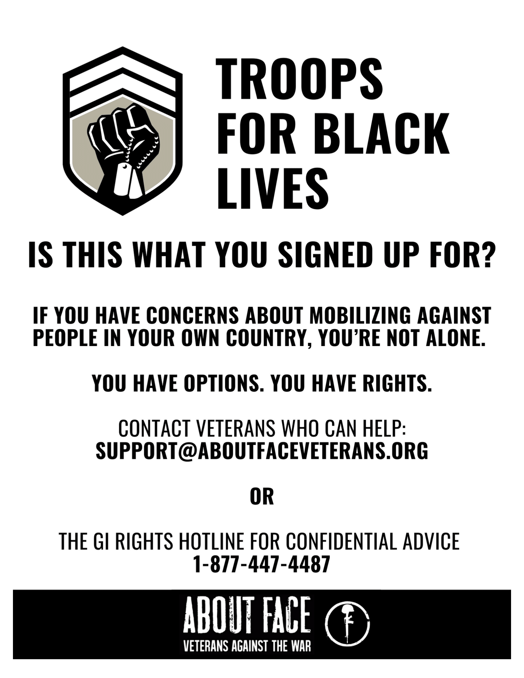 Troops For Black Lives - Is this what you signed up for?
