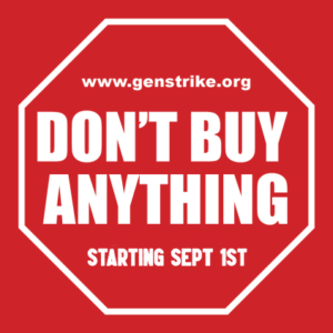 Don't Buy Anything - Starting Sept 1st